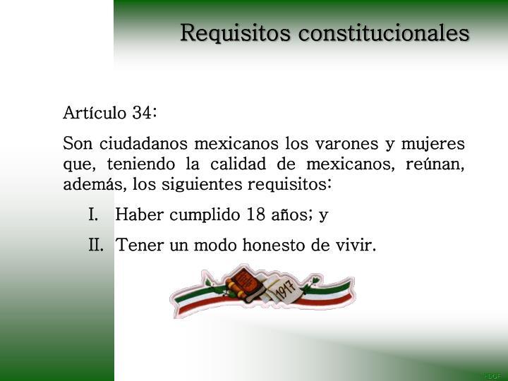 Requisitos constitucionales