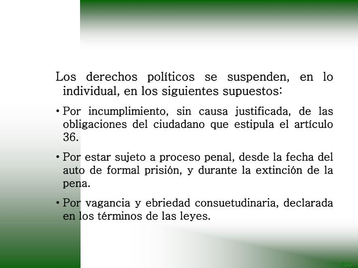 Los derechos políticos