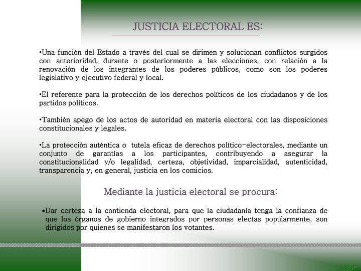JUSTICIA ELECTORAL ES: