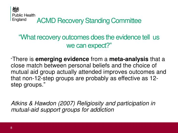 ACMD Recovery Standing