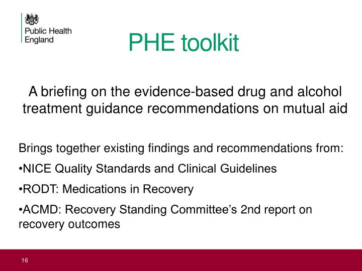 PHE toolkit