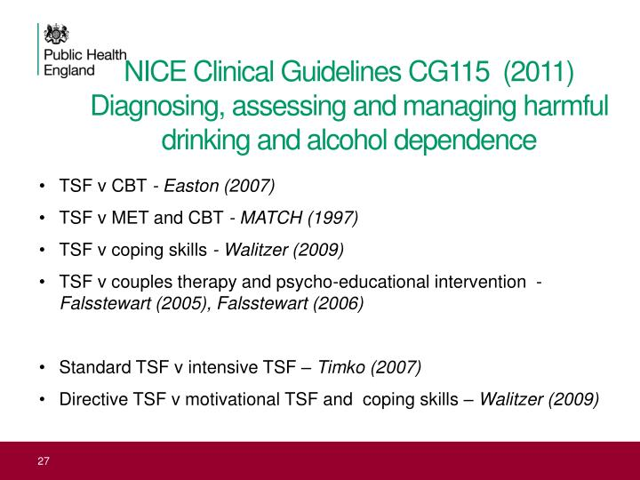 NICE Clinical Guidelines CG115