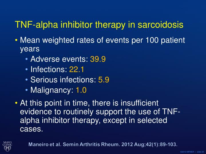 TNF-alpha inhibitor therapy in