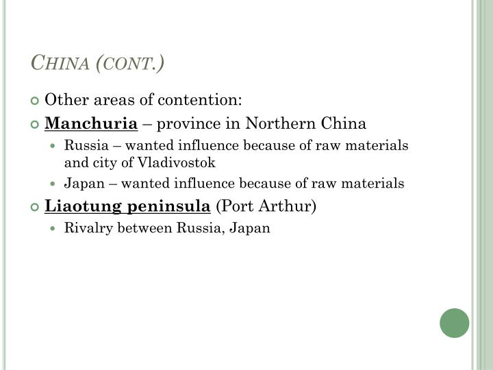 China (cont.)