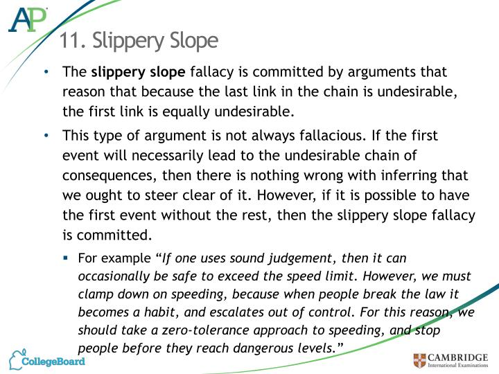 11. Slippery Slope