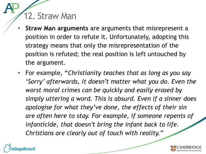 12. Straw Man