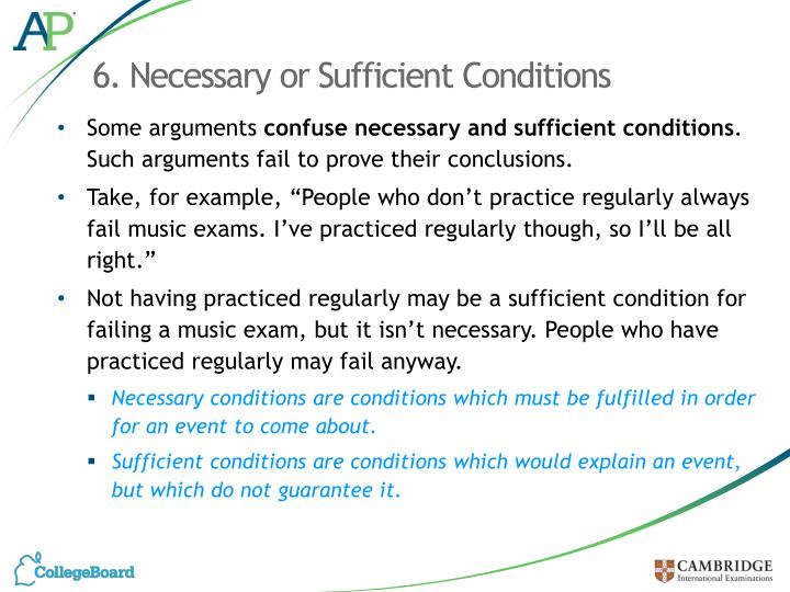 6. Necessary or Sufficient Conditions