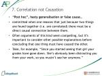 7 correlation not causation