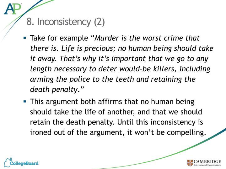 8. Inconsistency (2)