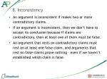 8 inconsistency