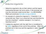 deductive arguments