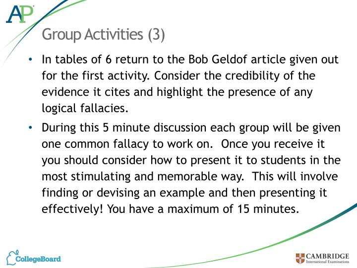 Group Activities (3)