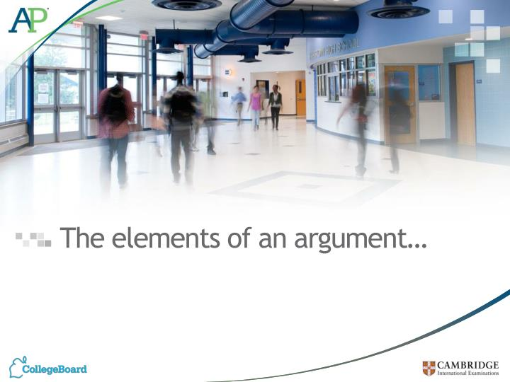 The elements of an argument…