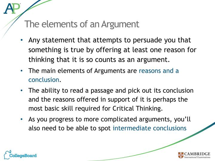 The elements of an Argument