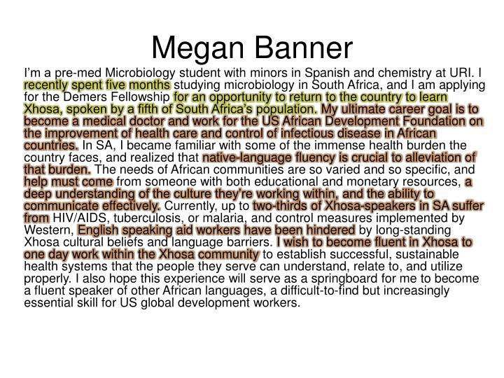 Megan Banner