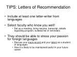 tips letters of recommendation
