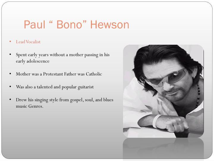 """Paul """" Bono"""""""