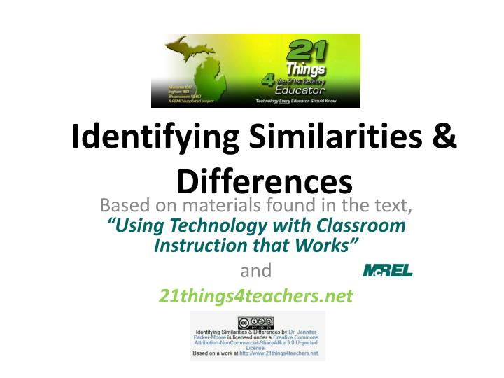 Identifying Similarities & Differences