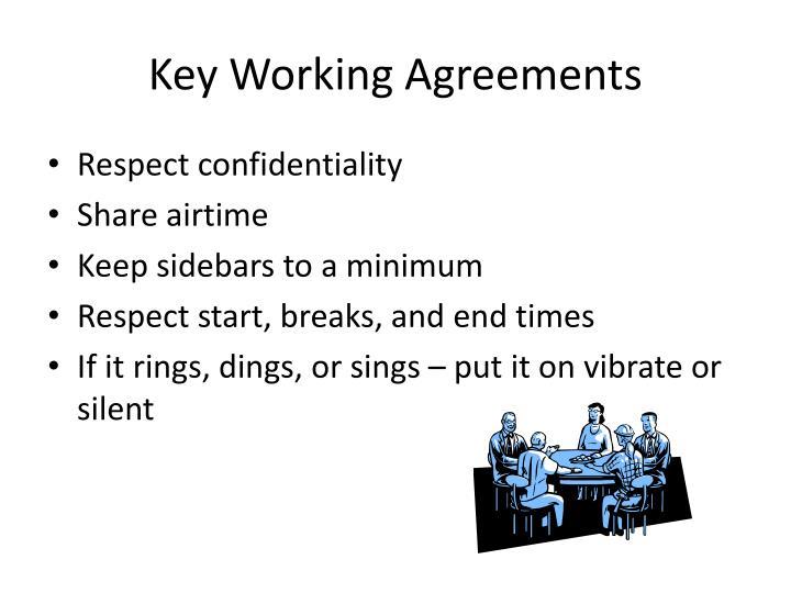 Key Working Agreements