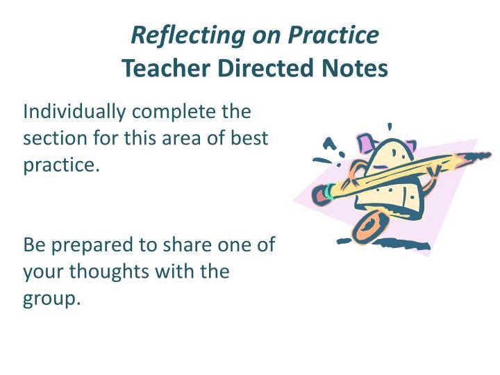 Reflecting on Practice