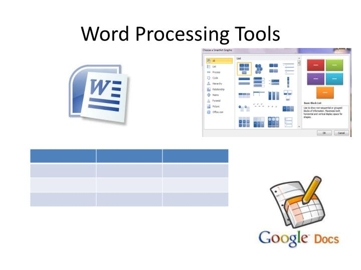 Word Processing Tools