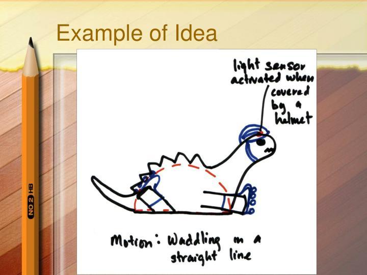 Example of Idea
