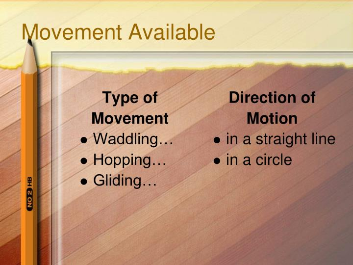 Movement Available