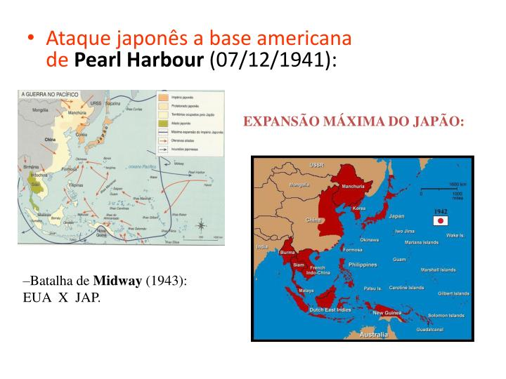 Ataque japonês a base americana de