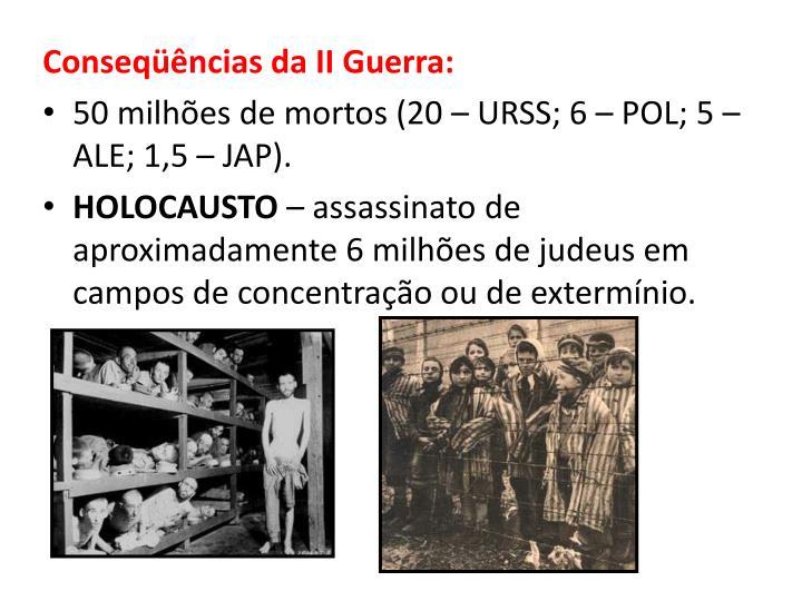 Conseqüências da II Guerra: