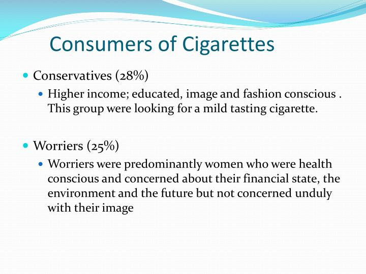 Consumers of Cigarettes