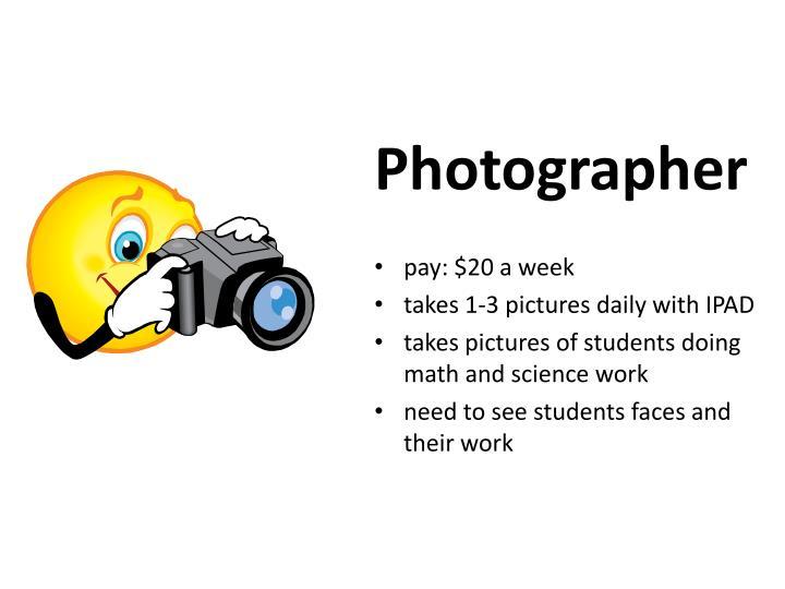 photographer job description