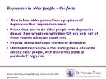 depression in older people the facts
