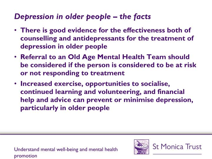 Depression in older people – the facts