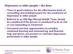 depression in older people the facts1