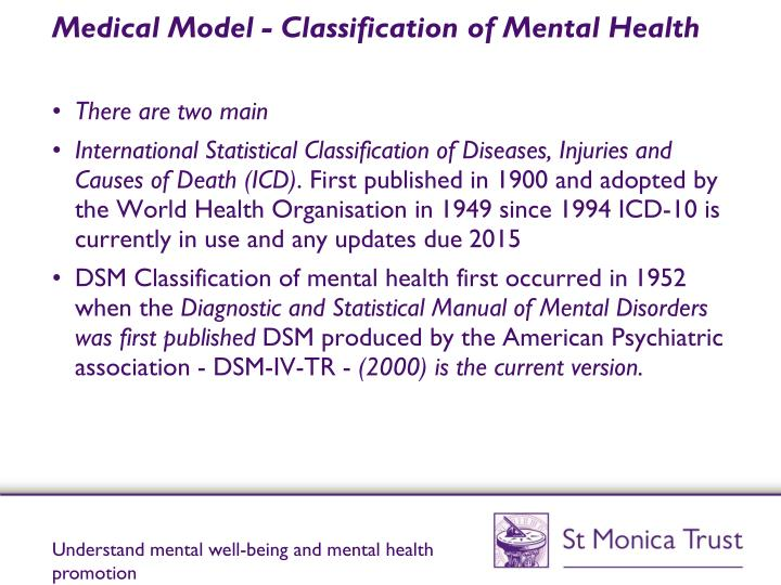 Medical Model - Classification