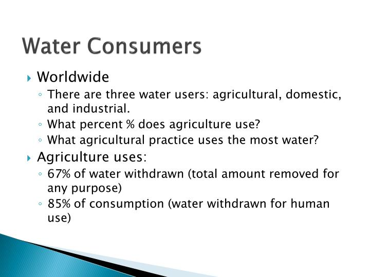 Water Consumers