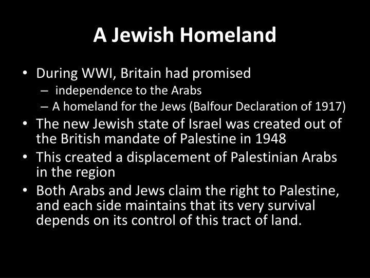 A Jewish Homeland