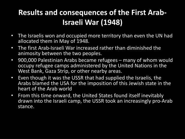 Results and consequences of the First Arab-Israeli War (1948)