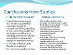 conclusions from studies