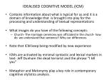 idealised cognitive model icm