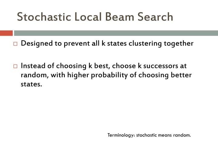 Stochastic Local