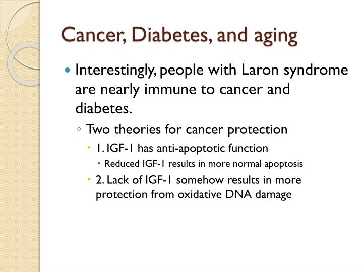 Cancer, Diabetes, and aging