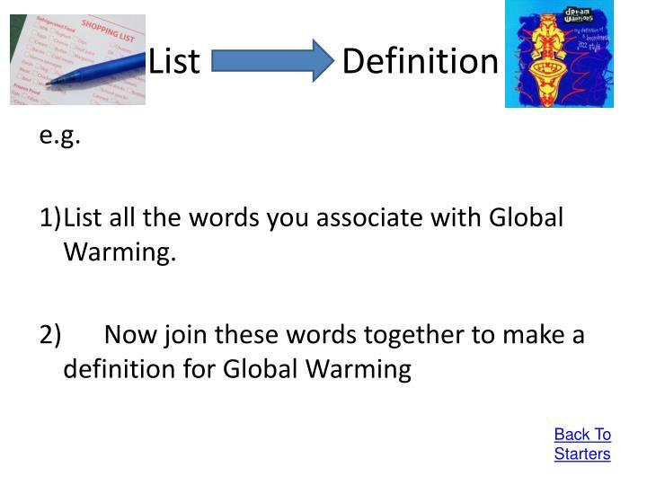 ListDefinition