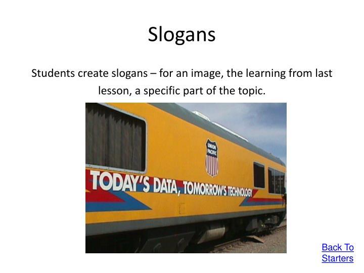 Slogans