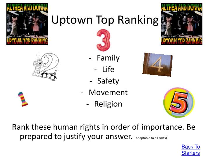 Uptown Top Ranking