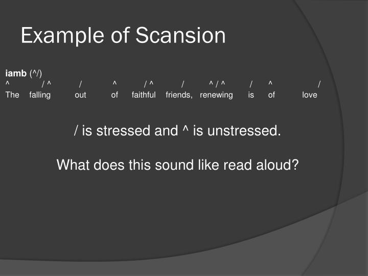 Example of Scansion