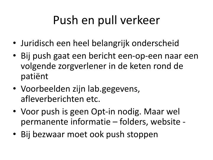 Push en pull verkeer