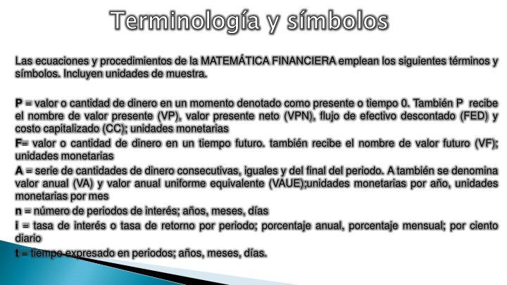 Terminología y símbolos