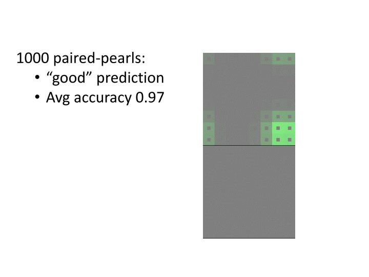 1000 paired-pearls: