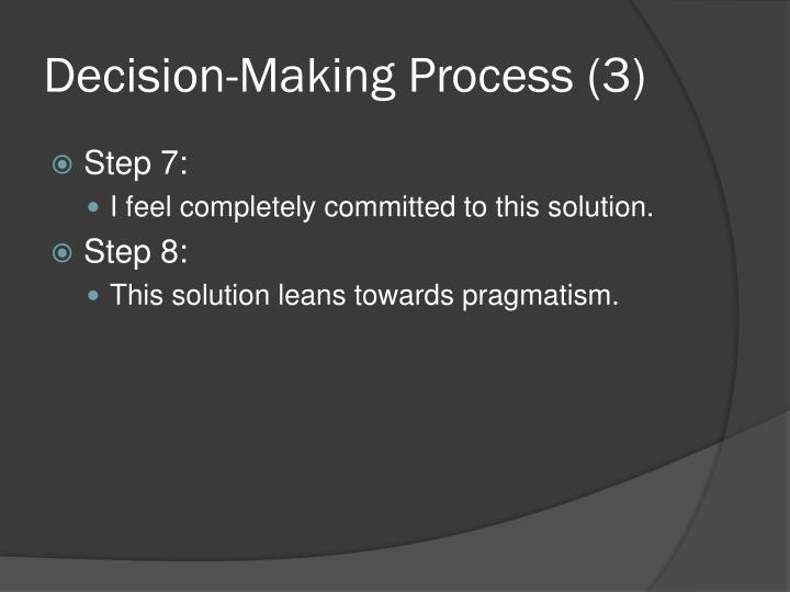 Decision-Making Process (3)